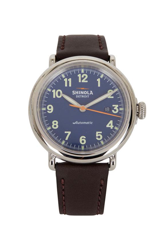 Shinola Runwell Blue Automatic Watch, 45mm