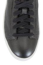 Santoni - Cleanic Anthracite Metallic Leather Sneaker