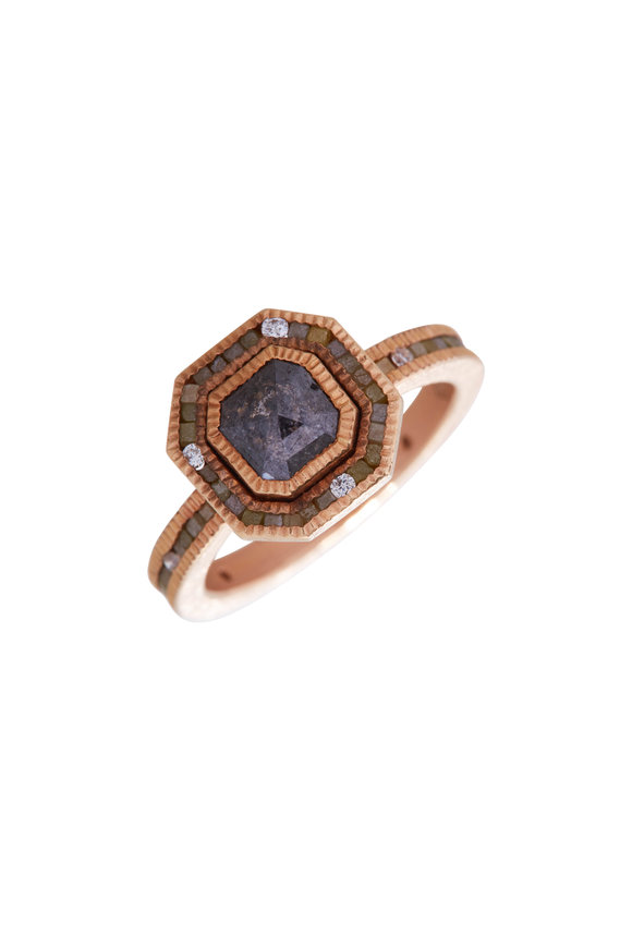 Todd Reed 18K Rose Gold Natural Diamond Ring