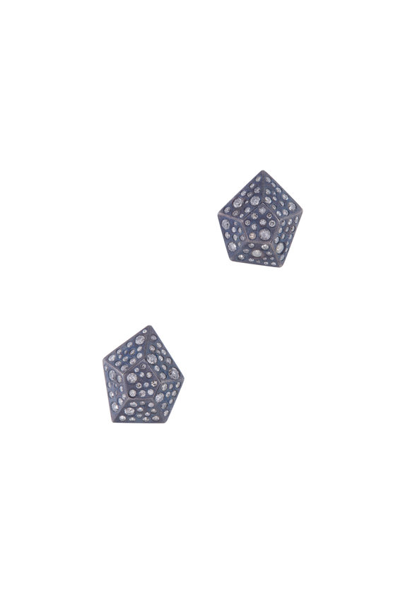 Todd Reed Sterling Silver Diamond Studs