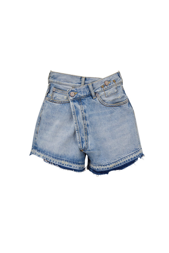 R13 Crossover Tilly With Let Down Hem Jean Short