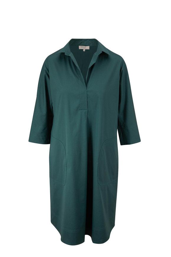 Antonelli Nives Teal Blue Long Sleeve Dress