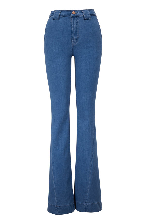 J Brand Hope Twisted Seam Detail Flare Jean