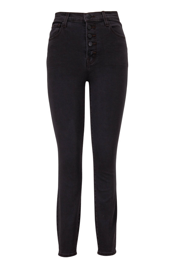 J Brand Lillie Sleek Gray High-Rise Skinny Jean
