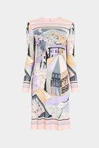 Pucci - Marilyn Blush St. Battistero Long Sleeve Dress