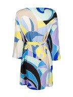 Pucci - Blue Print Three-Quarter Sleeve Belted Dress
