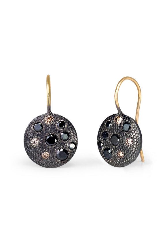 .925Suneera 14K Yellow Gold Charlie Diamond Earrings