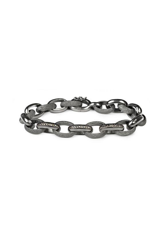 .925Suneera Sterling Silver Joah Diamond Link Bracelet