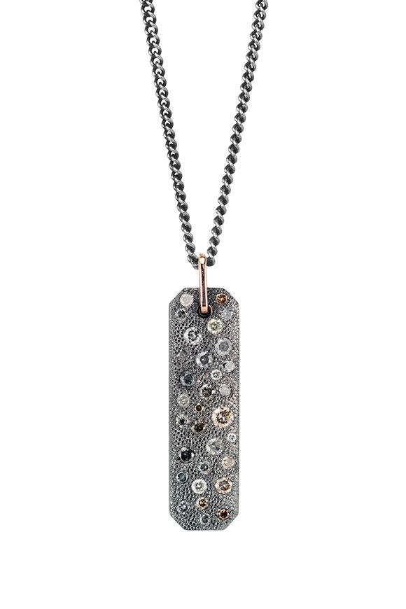 .925Suneera Sterling Silver Carmela Scattered Diamond Pendant