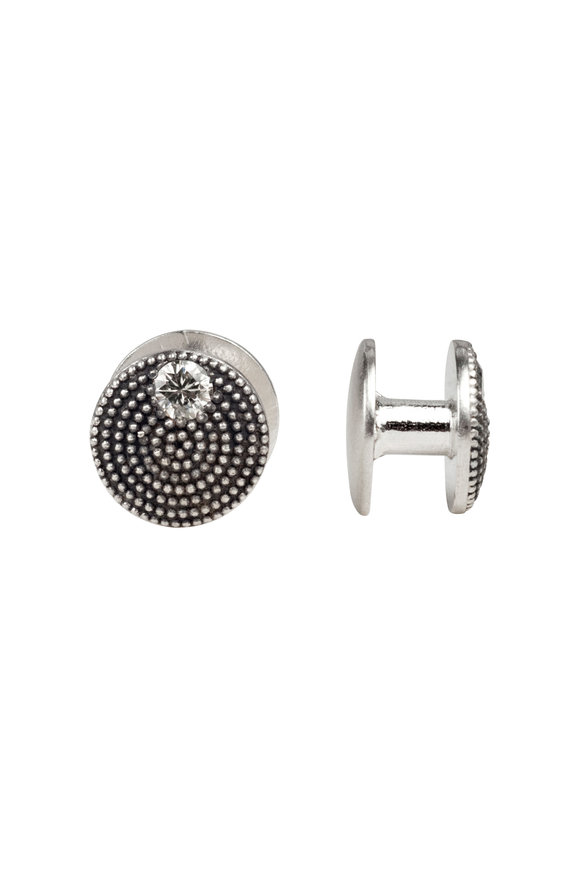 .925Suneera Sterling Silver Stud Buttons