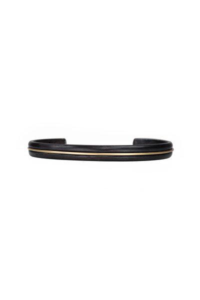 .925Suneera - Blackened Sterling Silver & Gold Mae Large Cuff