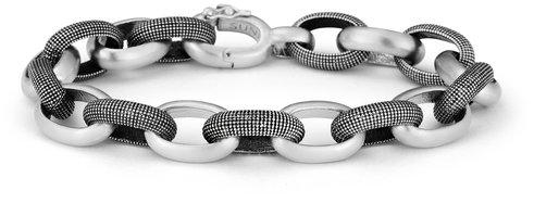 .925Suneera Sterling Silver Joel Alternating Link Bracelet
