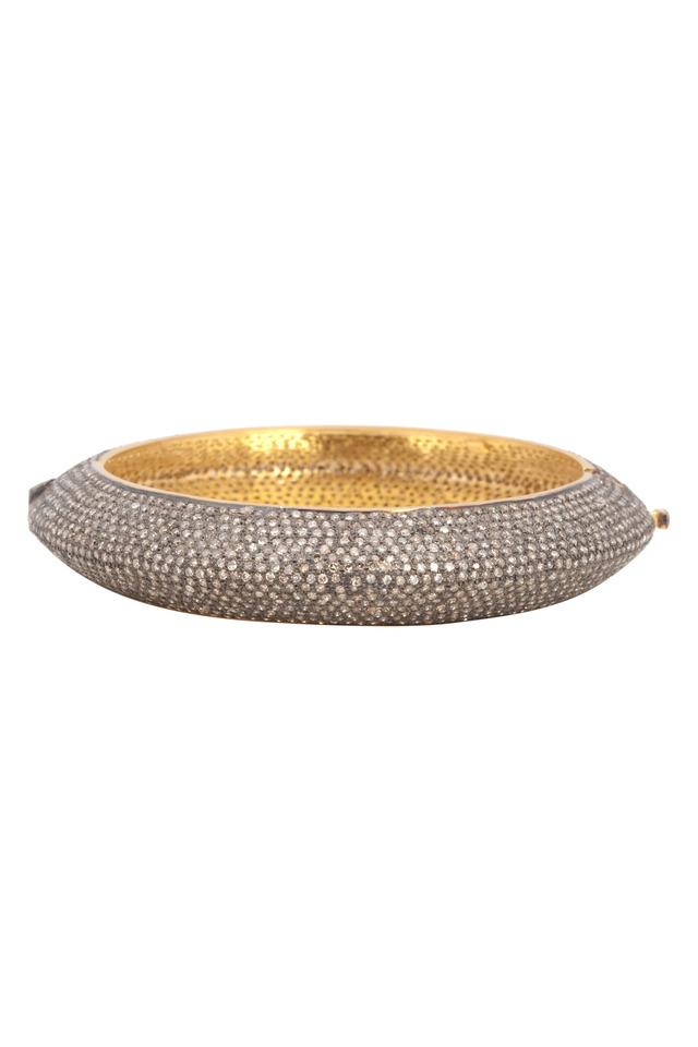 Gold & Silver Pavé-Set Diamond Bracelet