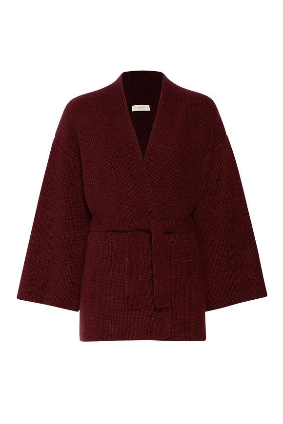LaPointe Mulberry Airy Cashmere Silk Kimono Cardigan
