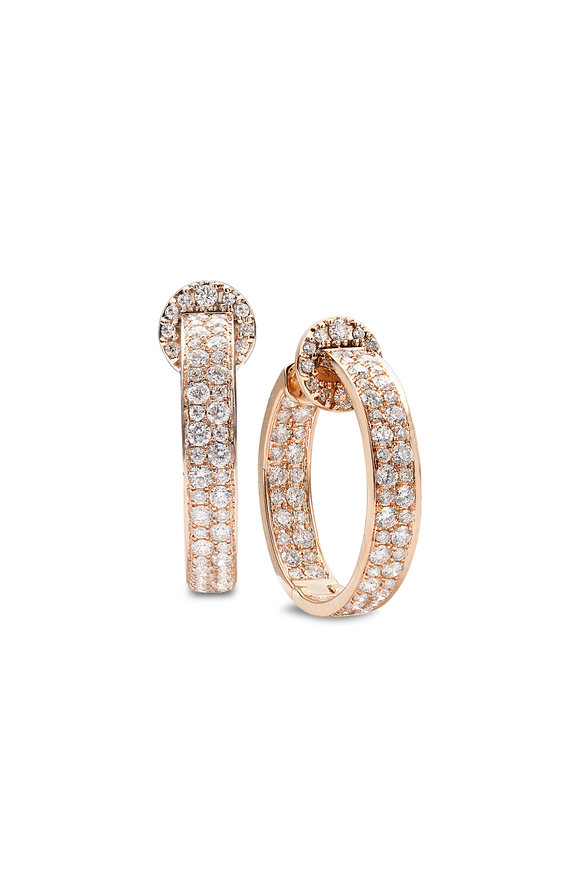 Nam Cho 18K Rose Gold Reverse Diamond Hoops