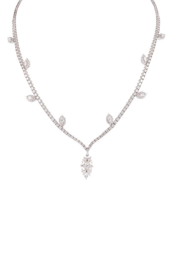 Yeprem 18K White Gold Diamond Necklace