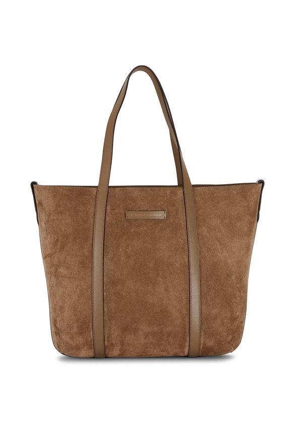 Brunello Cucinelli New Ice Taupe Reversible Large Shopper