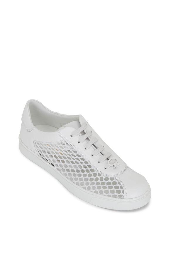 Gianvito Rossi Helena White Mesh & Leather Sneaker