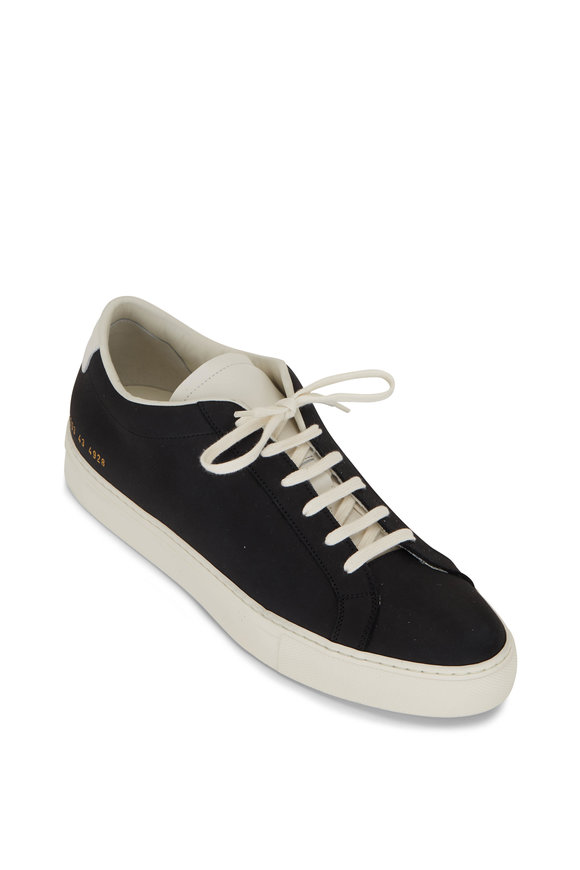 Common Projects Achilles Navy Leather Low Top Sneaker