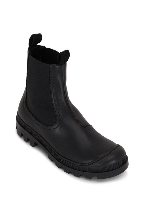 Loewe Black Leather Double Gore Chelsea Boot