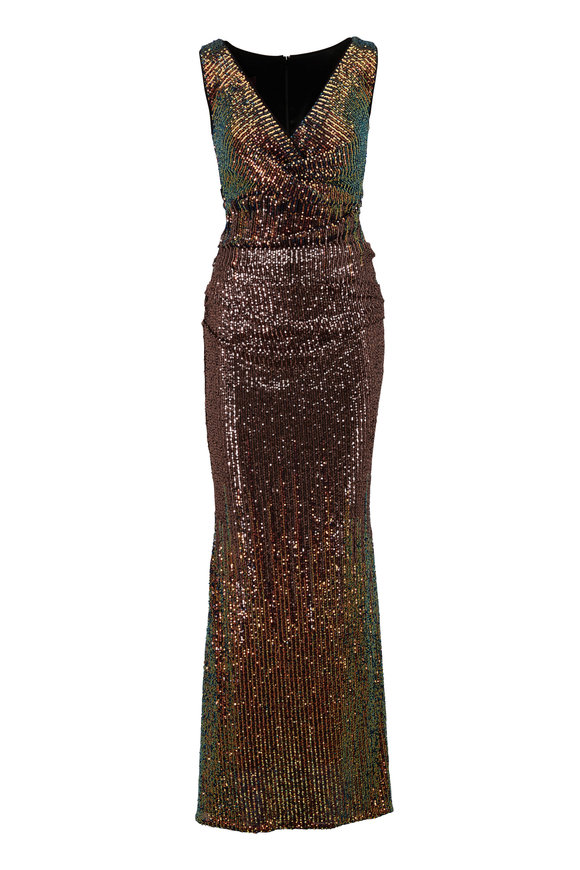 Talbot Runhof Bossa1 Multicolor Sequin Gown
