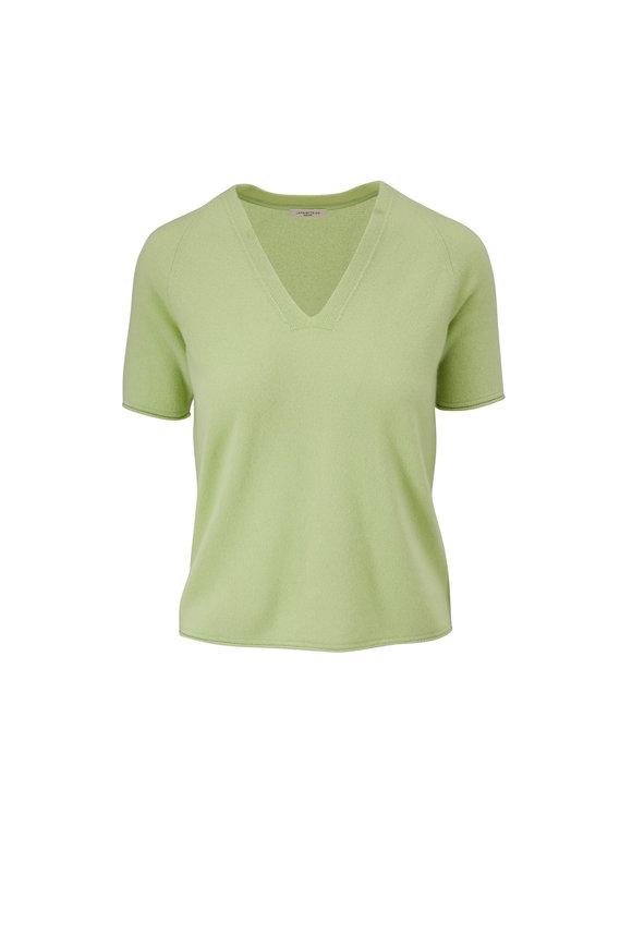 Lafayette 148 New York Vivid Key Lime Cashmere Raglan Sleeve Sweater
