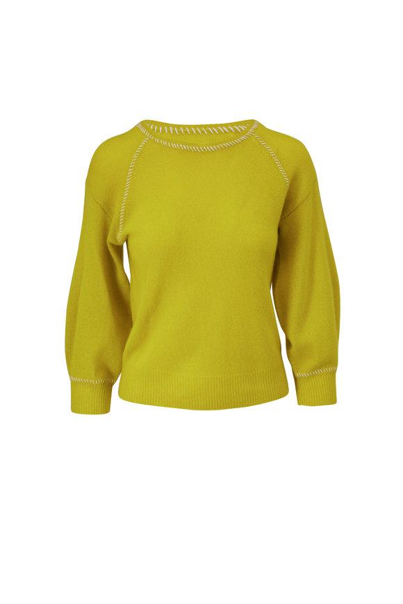 Veronica Beard Char Chartreuse Cashmere Sweater