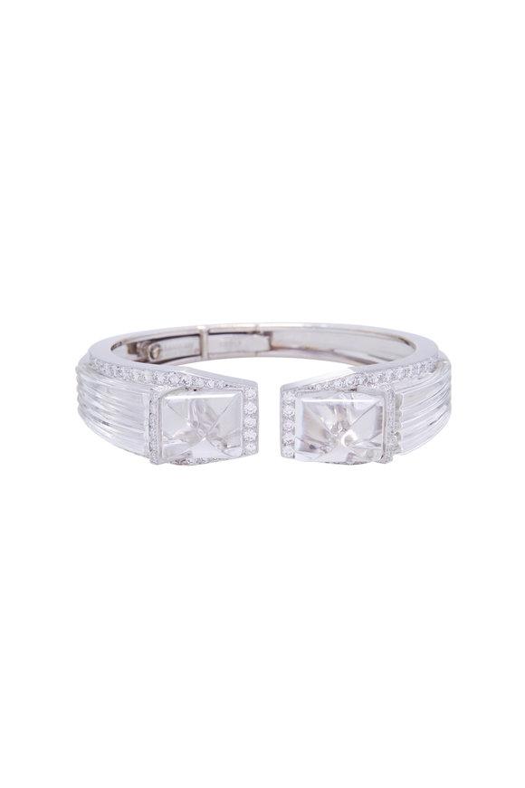 David Webb White Gold White Night Diamond Cuff