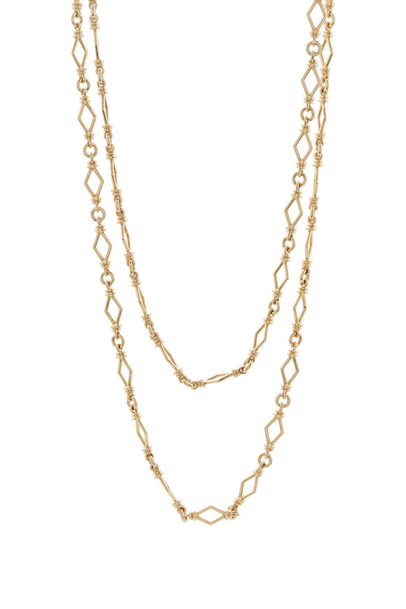 David Webb 18K Polished Yellow Gold Chain Necklace