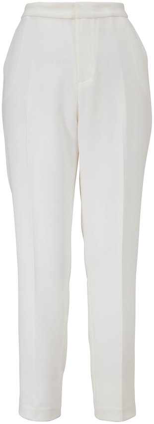 L'Agence Sawyer Ivory Tailored Ankle Pant