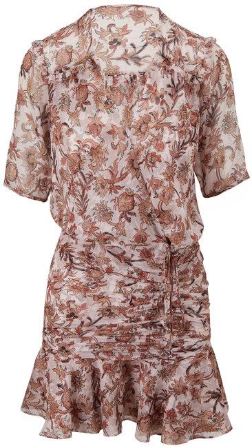 Veronica Beard Dakota Blush Multi Floral Mini Dress