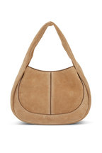 Tod's - Shirt Hobo Cognac Suede Small Handbag