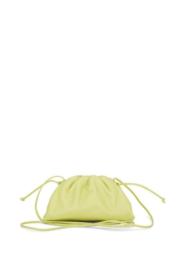 Bottega Veneta The Pouch Seagrass Leather Small Crossbody Bag