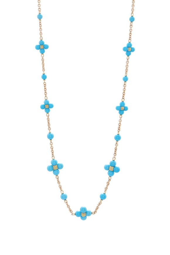 Paul Morelli 18K Yellow Gold Turquoise Chain Necklace
