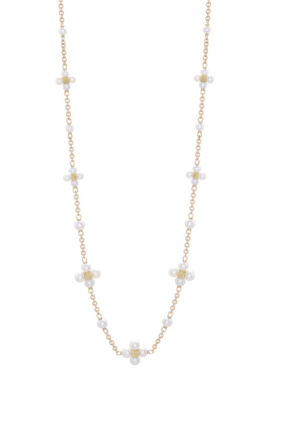 Paul Morelli 18K Yellow Gold Pearl Sequence Necklace