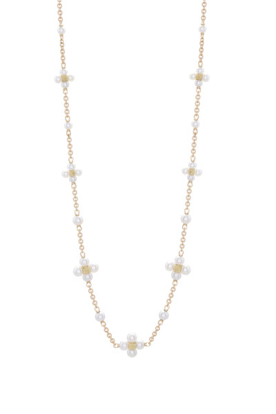Paul Morelli - 18K Yellow Gold Pearl Sequence Necklace