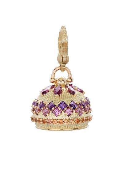 Paul Morelli - 18K Yellow Gold Multi Stone Bell Charm