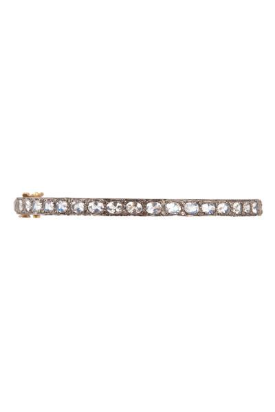 Loren Jewels - Moonstone Diamond Bangle Bracelet