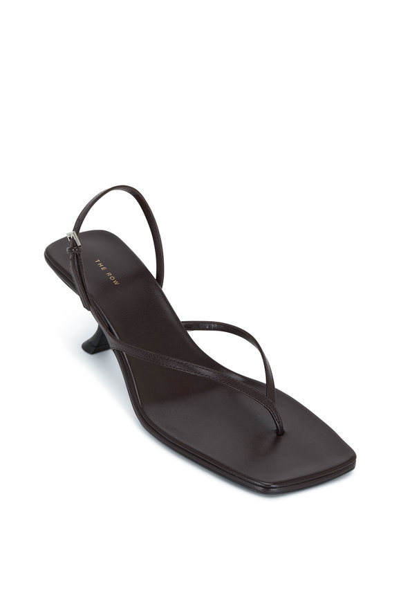 The Row Constance Mocha Leather Sandal, 55mm