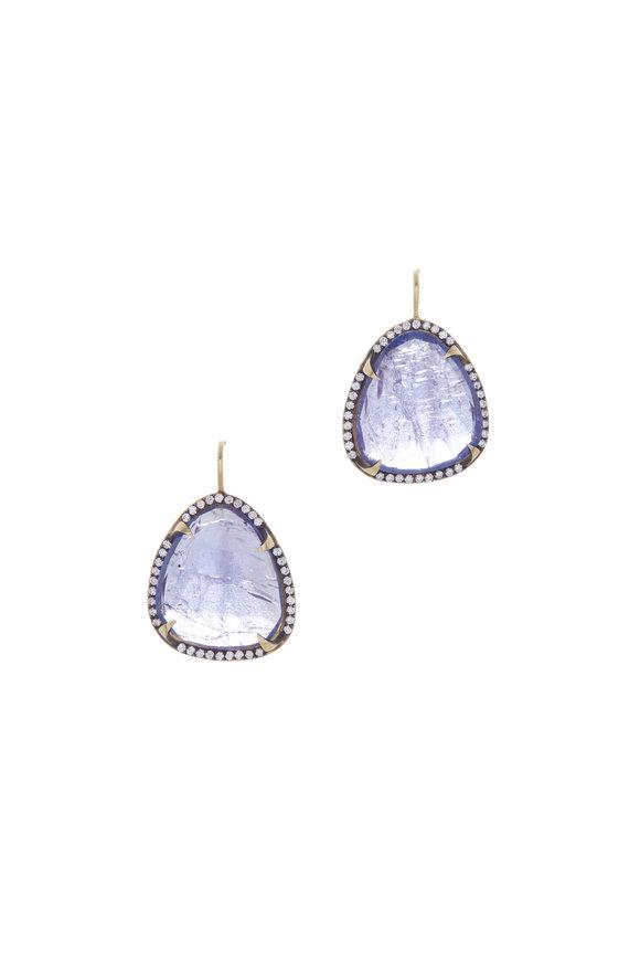 Sylva & Cie 18K Yellow Gold Tanzanite & Diamond Earrings