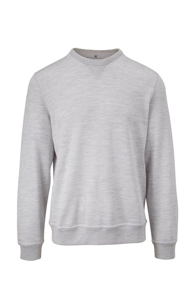 Brunello Cucinelli - Gray Cotton & Silk Crewneck Sweatshirt