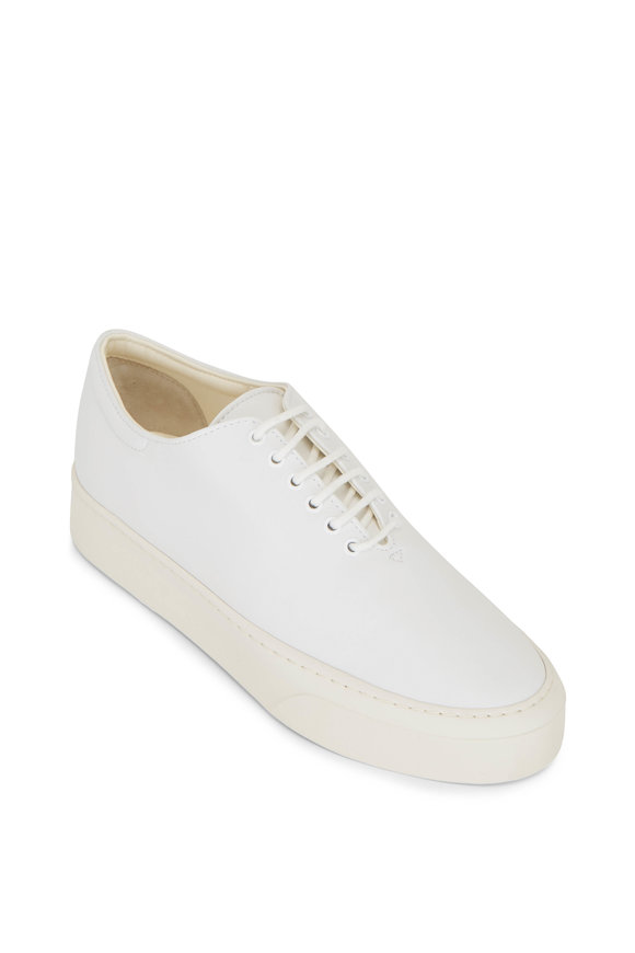 The Row Marie Snow Napa Leather Low Top Sneaker