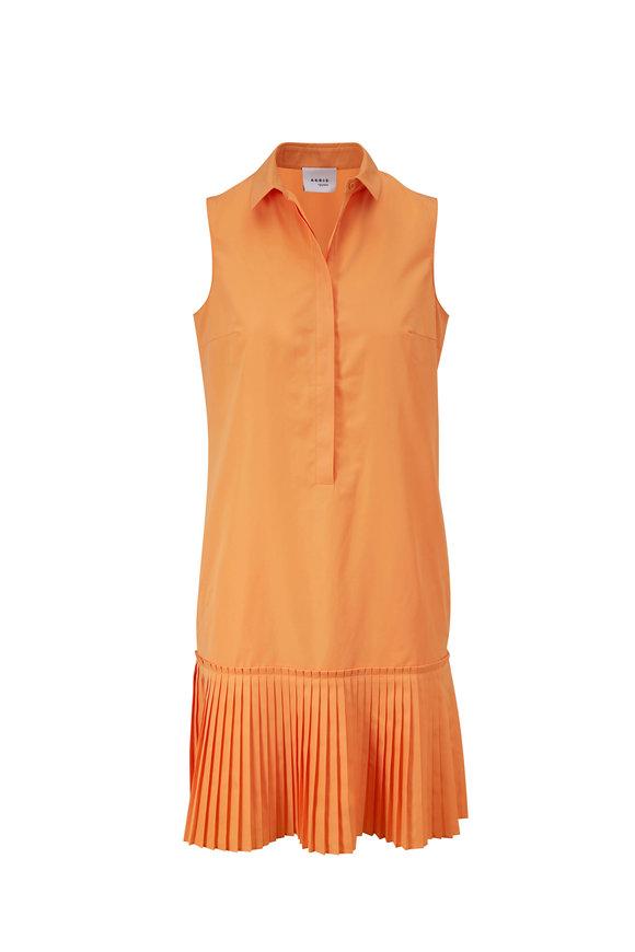 Akris Punto Sunshine Pop Sleeveless Pleated Hem Dress