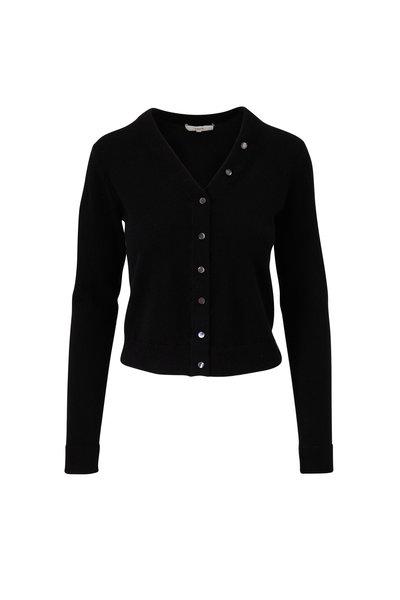 Vince - Black Cashmere Button Front Cardigan