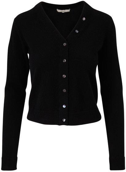 Vince Black Cashmere Button Front Cardigan