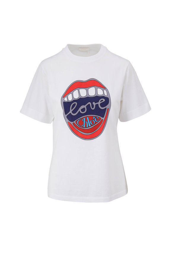 Chloé White Love Chloe Graphic T-Shirt