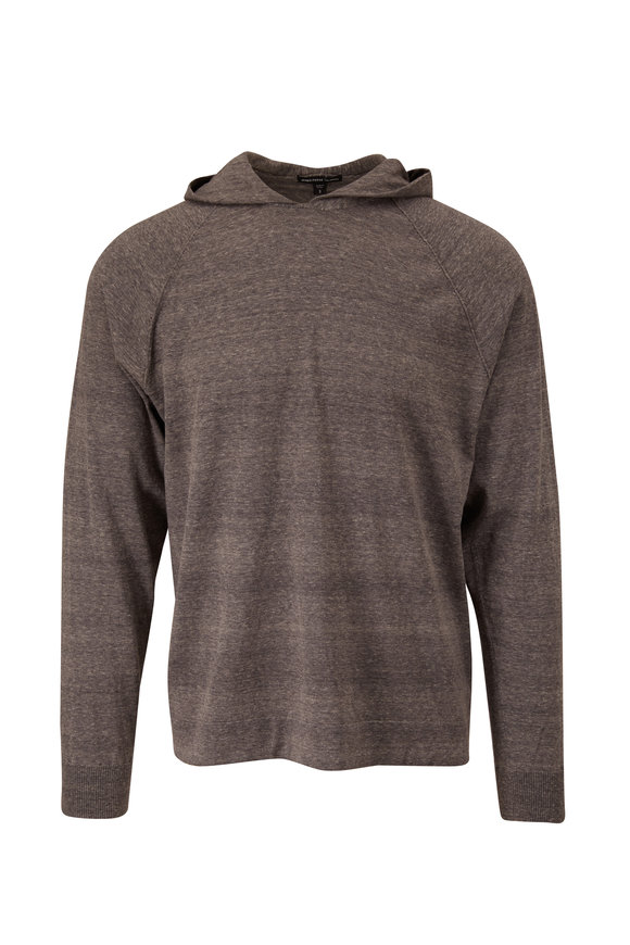 James Perse Fresca Charcoal Cotton Hoodie