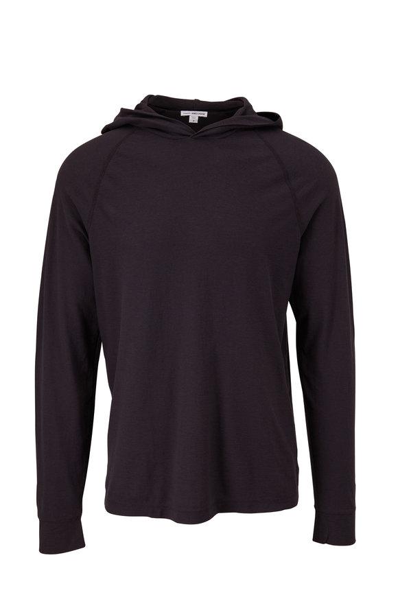 James Perse Magma Cotton & Linen Raglan Sleeve Hoodie