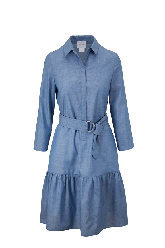Akris Punto Sun Bleached Denim Chambray Dress