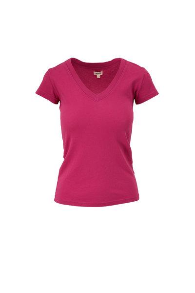L'Agence - Becca Violet Rose V-Neck T-Shirt